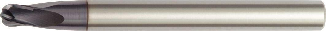 WIDIA Hanita 705010005RT Vision Plus 7050 HP Hard Material End Mill TiAlN Ball Nose RH Cut Straight Shank Carbide 10 mm Cutting Dia 4-Flute