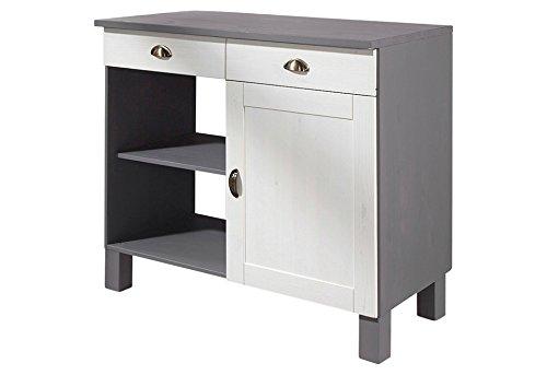 Unterschrank küchenschrank küche möbel tilo breite 50 cm kiefer massivholz landhausstil in weiß grau amazon de küche haushalt