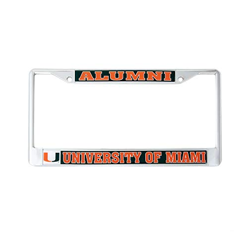 - Desert Cactus University of Miami Alumni Metal License Plate Frame for Front Back of Car Officially Licensed UM Hurricanes (Alumni)