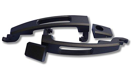 UPC 659673131865, American Brother Designs ABD-1103PKYB Matte Black Powder Coat Peaky Hole Sonic Door Handles (Set of 2)