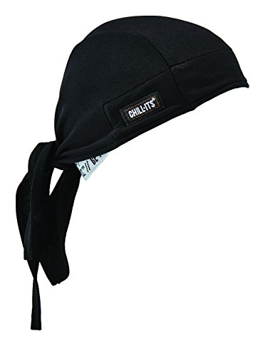 Ergodyne Chill-Its 6615 Dew Rag, Moisture-Wicking, Sweat Absorbing Headband, Black (Best Solution For Bald Head)