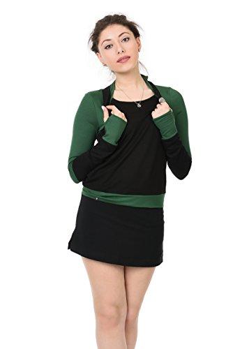 Black Neckholder Verde Top Belle Abeto 3elfen Mujer HvBqvS