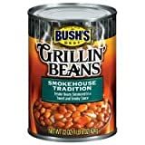Bush's Best Grillin' Beans, Smokehouse Tradition, 22oz Can (Pack of 12)