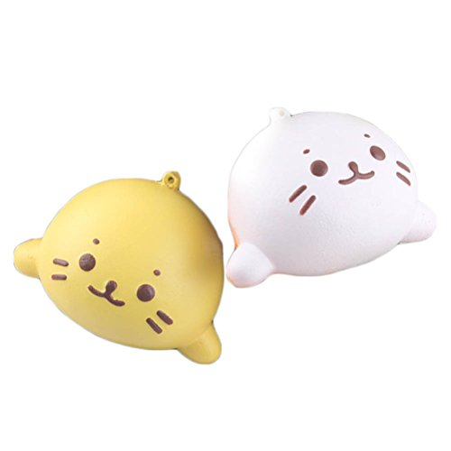 2Pcs Squishy Baby Dolphin Sea Lion Scented Bread Phone Charm Bag Strap Squeeze Kids Toy Gift