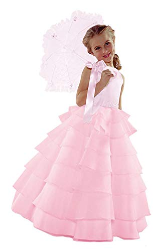 ST244 Flower Girl Wedding Layers Sleeveless Dress Baby to Teen (12, Lilac)]()