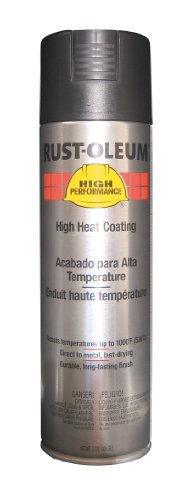 Rust-Oleum V2176838 V2100 System High Heat Spray Paint, 15-Ounce, Black ()
