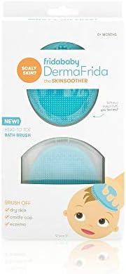 Escova de silicone para banho de bebê DermaFrida The SkinSoother da Fridababy | Essencial para bebês para pele
