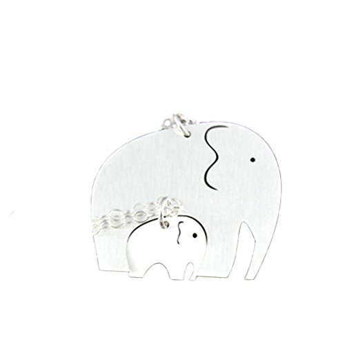 N egret Silver Plated Elephant Pendant Necklace product image