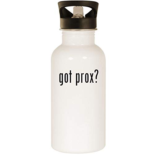 got prox? - Stainless Steel 20oz Road Ready Water Bottle, White