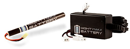 8.4V NiMH 1600mAh Replaces Crosman AK-S Pulse R76 Airsoft Rifle + Charger - Mighty Max Battery brand product (Pulse Rifle Airsoft)