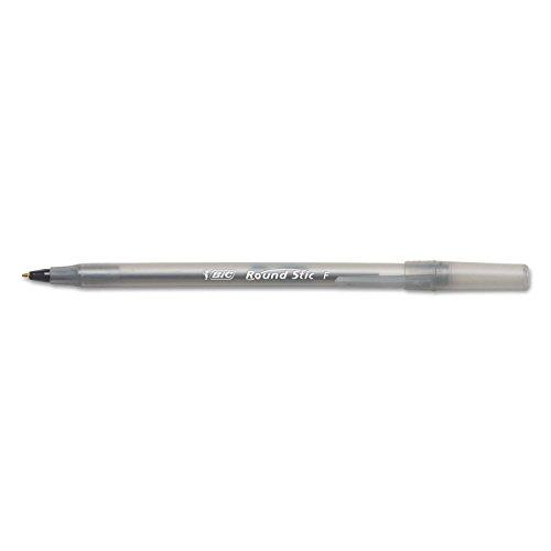 BIC GSF11BK Round Stic Xtra Precision Ballpoint Pen, Black Ink.8mm, Fine, Dozen