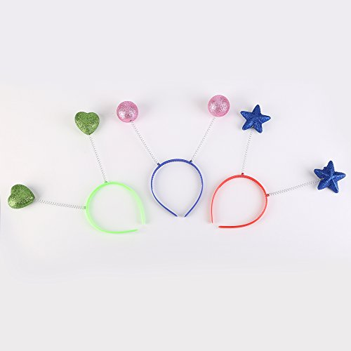 Fun Central BC565 Sparkle Head Boppers Assorted - (Heart Head Bopper)