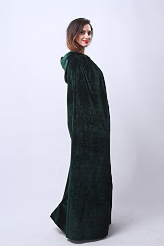 Nuoqi Mens Halloween Costumes Unisex Adults Cosplay Green Cape Cosplay Costumes by Nuoqi (Image #4)