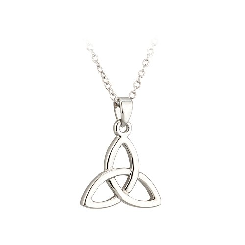 Tara Trinity Knot Necklace Celtic Irish Rhodium Plated Pendant Made in Ireland