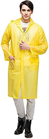 Color : Pink XL Pink Lilying Household appliances .Fashion Adult Lightweight EVA Transparent Frosted Raincoat Big Hat with Pocket Size