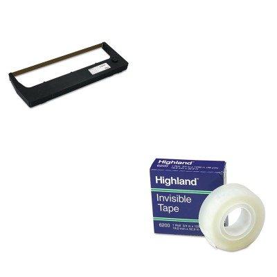 KITMMM6200341296PRT255048402 - Value Kit - Printronix 255048402 Ribbon (PRT255048402) and Highland Invisible Permanent Mending Tape ()
