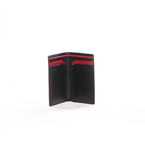 Bifold Hugo Wallets Bi 100 Men's skin Fold Subway Black Boss Cow Szxzwrt0