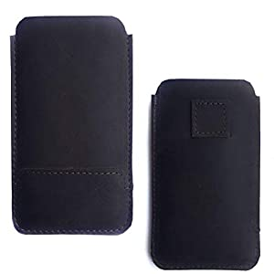 Chalk Factory Antique Finish Leather Mobile Case with Easy Pull Feature for Xiaomi Redmi 9 Power Mobile Phone