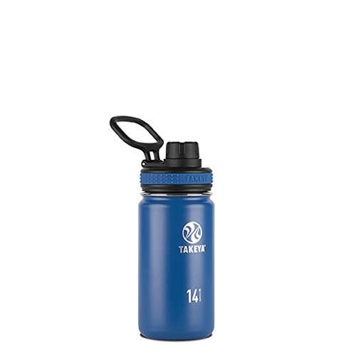 Takeya Originals Vacuum-Insulated Stainless-Steel Water Bottle, 14oz, Navy For Sale