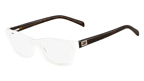 Fendi Rectangular Eyeglasses F1032 105 Size: 54mm White/Havana - Fendi Eyeglasses Havana