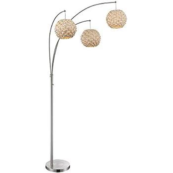 Ikea Boja Floor Lamp Nickel Plated Rattan Amazon Com