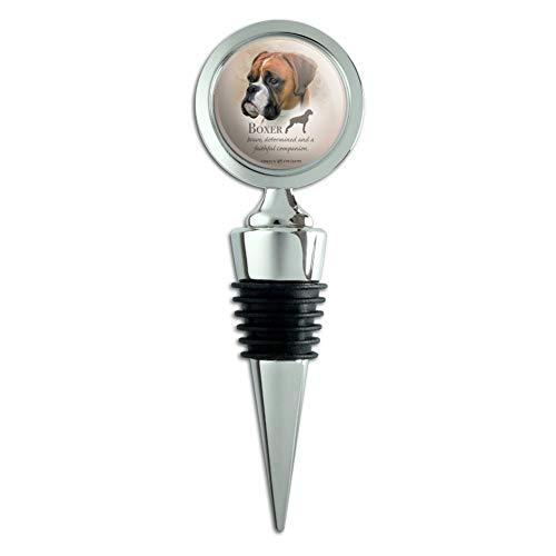 - Boxer Dog Breed Wine Bottle Stopper