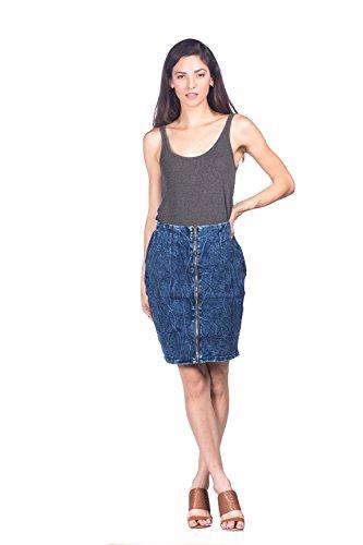 Jeans Colony Women's Casual Knee Length Jean Denim Skirt