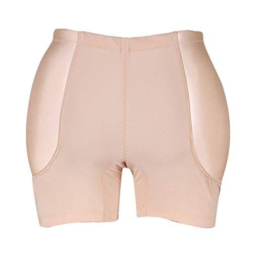 (Zarbrina Women's Lady Padded Seamless Butt Hip Enhancer Shaper Panties Underwear)