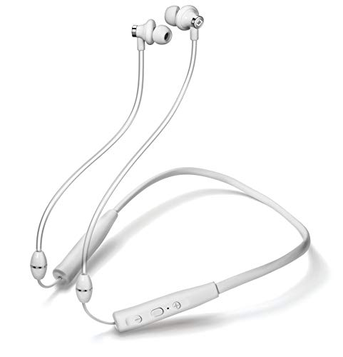 Aircom A3x Wireless Earphone – Airflow Bluetooth Earbuds with Airflow Audio Technology – Water Resistant Headphones, 11 Hours of Talk Time White