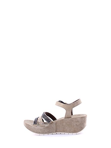 CAFèNOIR Qhd611 - Sandalias de cuña Mujer E15.094 BEIGE