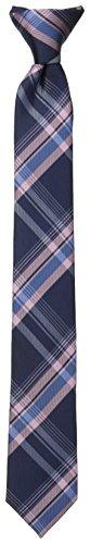 Sale Pink Ties - Dockers Big Boys' Plaid Clip On Tie, Pink, One Size