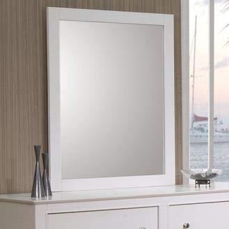 Selena Rectangular Dresser Mirror White by Coaster Home Furnishings