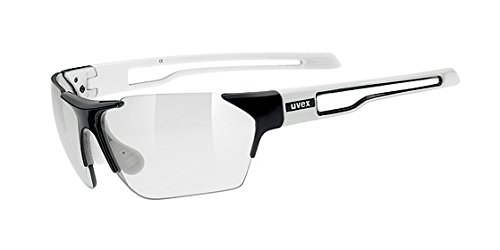Uvex Sportstyle 202 Variomatic Sunglasses Black/White, One Size - Men's by Uvex