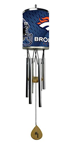 Cheap Rico Wind Chime, Denver Broncos plate rolled in on the chime body