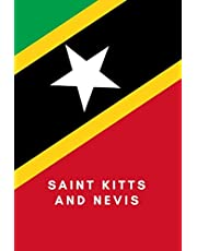 Saint Kitts and Nevis: Country Flag A5 Notebook to write in with 120 pages