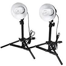 GTAPhotoStudio Product Photography 400W (2x45w bulbs) Table Top Photo Studio Lighting Kit - 2 Light Kit (DOM02)