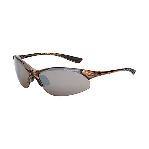 Crossfire Eyewear 15117 Cobra Safety Glasses with Brown Frame and Brown Mirror Lens - Frame Brown Mirror Lenses