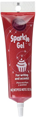 Wilton 704-9990X Red Sparkle Gel Icing Dispenser
