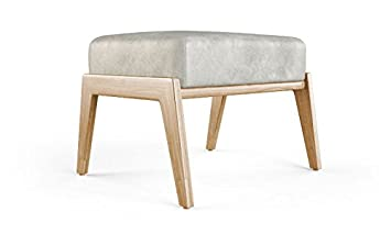 Outstanding Amazon Com Soto Mid Century Modern Leather Ottoman Inzonedesignstudio Interior Chair Design Inzonedesignstudiocom