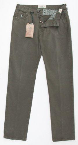 New Luigi Borrelli Olive Green Pants 33/49