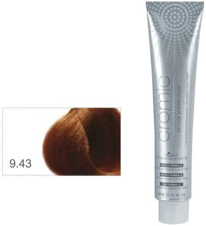 Light Irridiance Cromic 9.43 Rubio clarísimo cobre dorado 100mL - Tinte crema colorante permanente para el cabello | Anti-age System Color | Aceite de ...