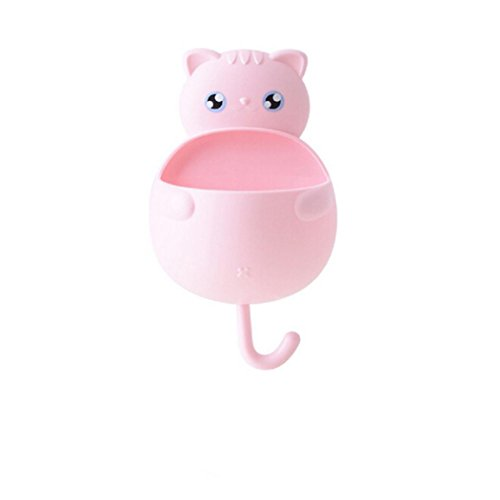 Cute Costume Ideas 2016 (Gotd Cute Cartoon Cat Sucker Hook Toothbrush Holder Bathroom Tool (Pink))