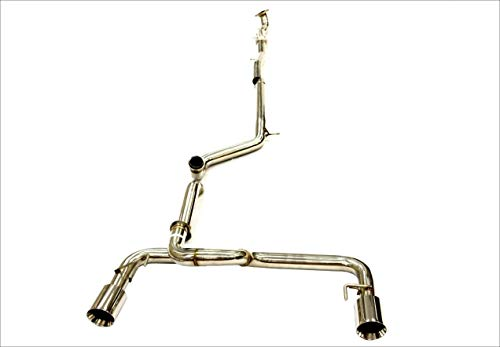 OBX Stainless Performance Catback Exhaust 12-19 Fiat 500 Abarth 500T 1.4L Exhaust System 5pcs (Best Exhaust For Abarth 500)