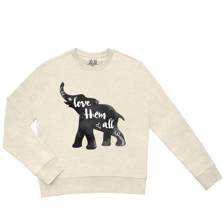 Sweatshirt creme chine Elephant