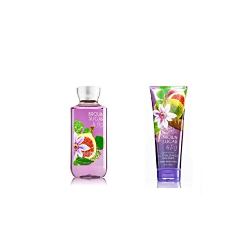 Bundle Pack Bath Body Works BROWN SUGAR & FIG Body Cream & Shower Gel Combo Pack