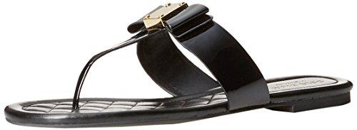 Cole Haan Women's Tali Bow Flat Sandal, Black Patent, 8 B US - Low Heel Patent Thong Sandal