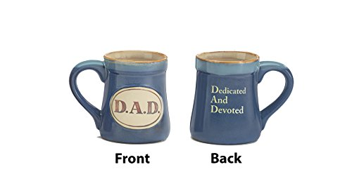 Dad Acronym Mug  Blue    Dedicated And Devoted   Great Fathers Day Or Birthday Gift