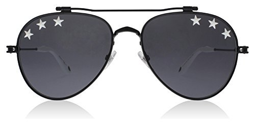 Givenchy Women's Stars Aviator Sunglasses, Black/Grey Blue, One (Givenchy Black Sunglasses)