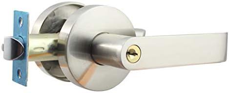 ドアノブ レバーハンドル 浴室用 3本棒タイプの純銅製ロックハンドル ECE