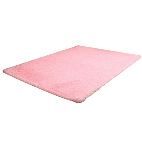 Elevin(TM) Fashion Fluffy Rugs Anti-Skid Shaggy Area Rug Home Kitchen Dining Living Sitting Room Home Bedroom Carpet Floor Mat (80 x 120cm, Pink)